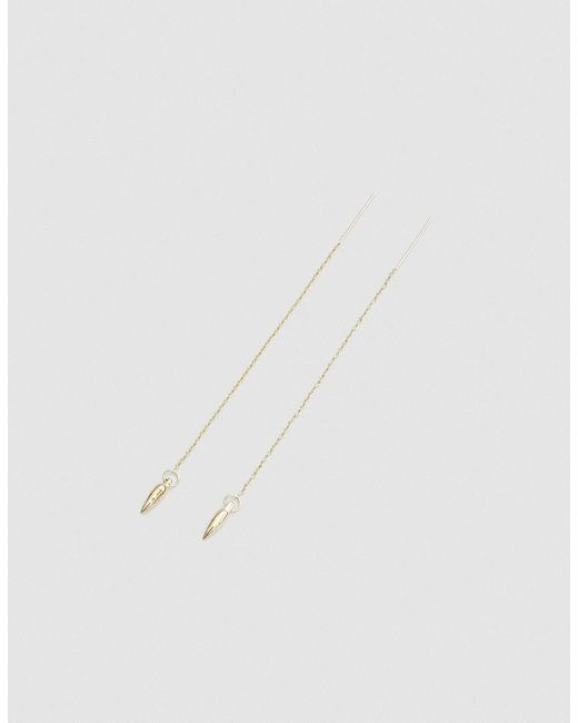 Pamela Love | Metallic Suspension Ear Threads In Gold | Lyst