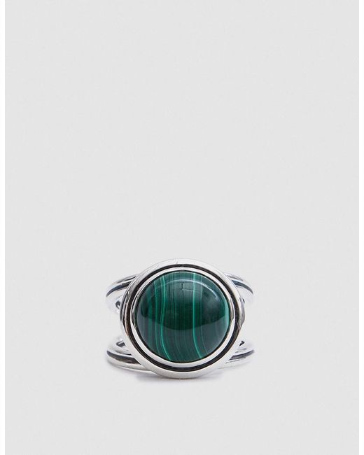 Pamela Love - Metallic Phoebe Ring In Sterling Silver With Malachite - Lyst