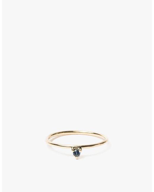 Wwake - Metallic One-step Sapphire Ring - Lyst