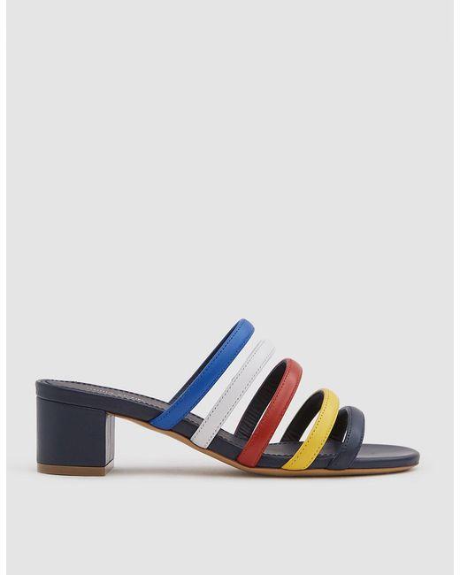 Mansur Gavriel - Blue Multi Strap Sandals - Lyst