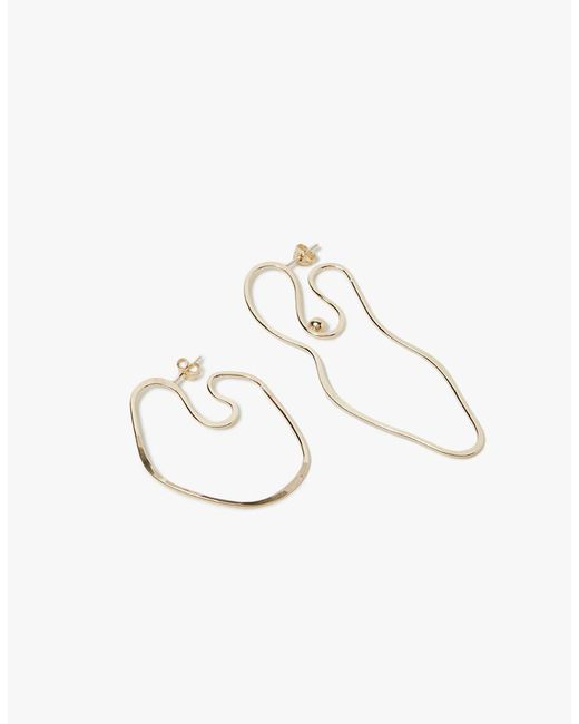 Knobbly Studio   Metallic Abstract Nude With Nipple Mismatched Earrings   Lyst