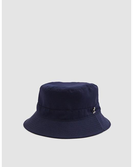 Larose Paris - Blue Water Repellent Bucket Hat In Navy for Men - Lyst