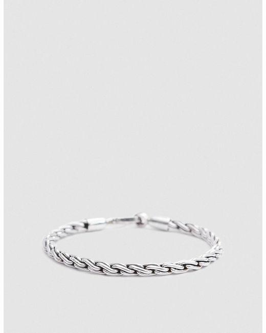 Caputo & Co. | Metallic Chunky Sterling Silver Chain Rope Bracelet | Lyst