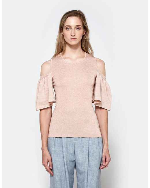 Ganni - Romilly Top In Cloud Pink - Lyst ...