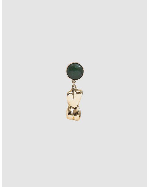 Faris - Metallic Single Bod Bronze Drop Earring - Lyst