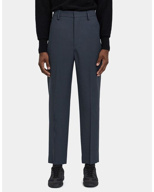 Lemaire - Blue Suit Wool Twill Pant for Men - Lyst