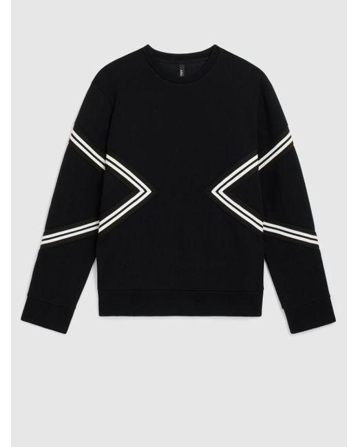 Neil Barrett Black Iconic Varsity Modernist Bonded Sweatshirt for men
