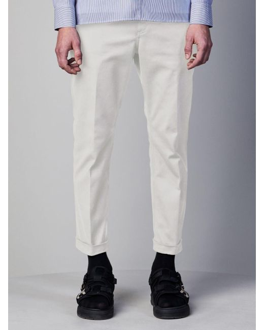 Neil Barrett White Soft Stretch Cotton Loose Jeans for men