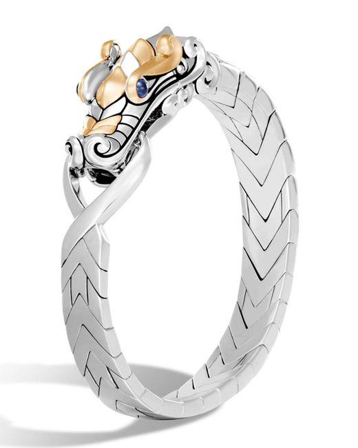 John Hardy - Metallic Men's Legends Naga Dragon Sterling Silver & 18k Gold Chain Bracelet for Men - Lyst