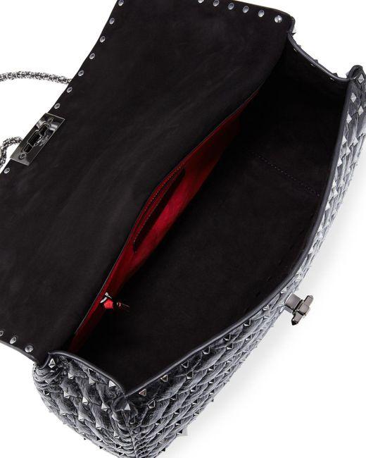 Valentino Garavani Black Rockstud Large Quilted Shoulder Bag