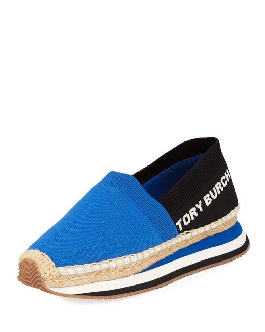 Tory Burch - Blue Daisy Slip-on Sneakers - Lyst