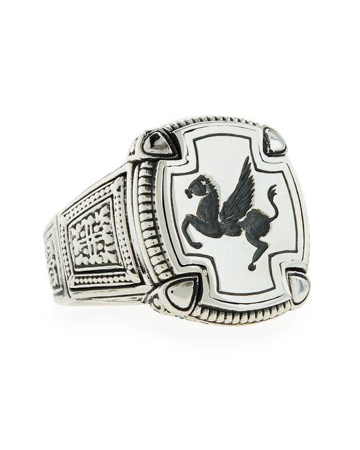Konstantino - Metallic Men's Pegasus Square Ring Size 10 for Men - Lyst