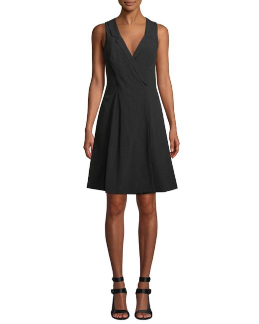 Fame & Partners - Black The Emberson V-neck Sleeveless Dress - Lyst