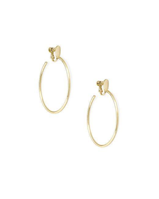 Kendra Scott Metallic Pepper Clip-on Hoop Earrings