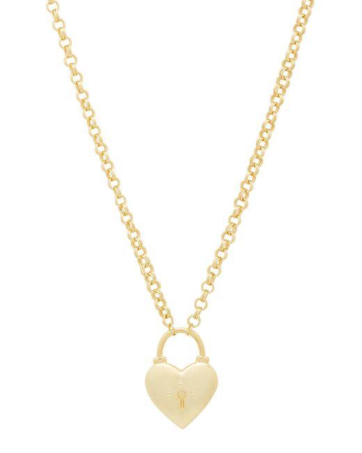 Gorjana Metallic Kara Heart Padlock Necklace