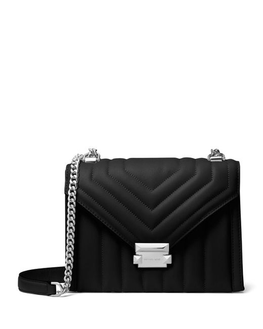 6a4111b09f5a Lyst - Michael Michael Kors Whitney Large Shoulder Bag in Black