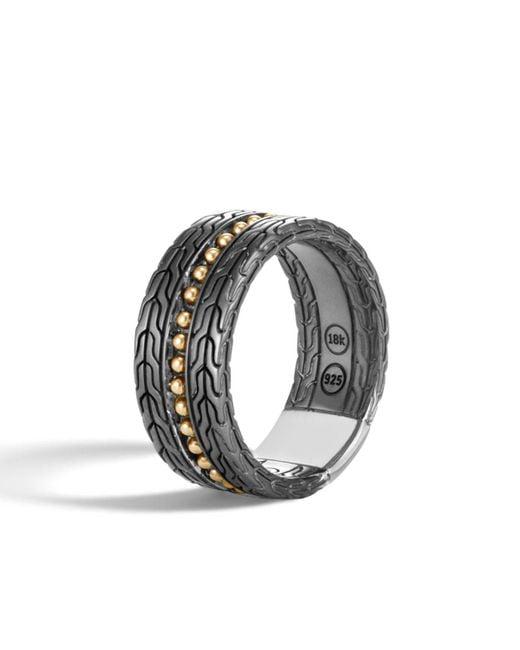 John Hardy - Metallic Men's Classic Chain 18k Stud Ring Size 10 for Men - Lyst