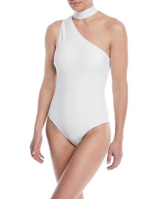 Zimmermann - White Jaya Tie-neck One-piece Swimsuit - Lyst