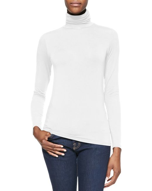 Neiman Marcus | White Soft Touch Turtleneck | Lyst