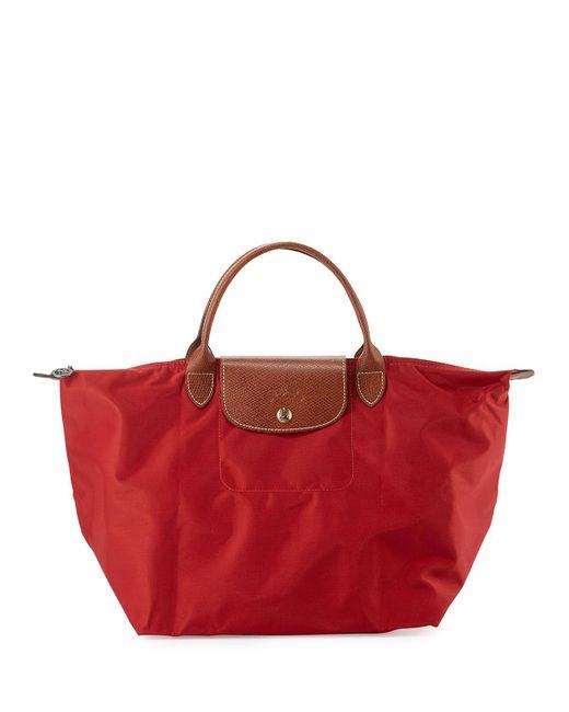 Longchamp | Red Le Pliage Medium Handbag | Lyst