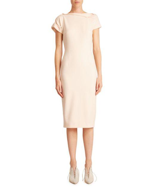 Roland Mouret Multicolor Brenin Crepe Dress