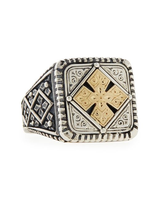 Konstantino | Metallic Men's Maltese Cross Square Ring for Men | Lyst
