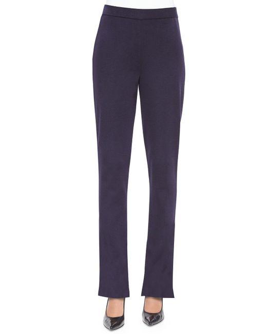 Misook | Blue Casey Boot-cut Pants | Lyst