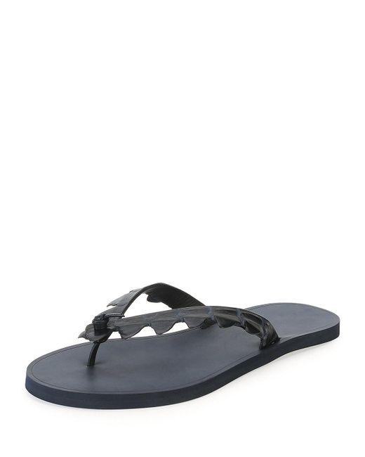 Bottega Veneta | Black Crocodile Flip-flop Sandal for Men | Lyst