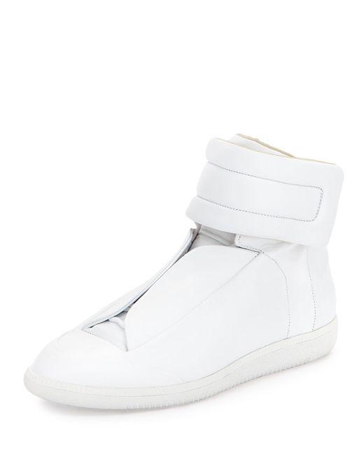 Maison Margiela | White Future Leather High-top Sneaker | Lyst