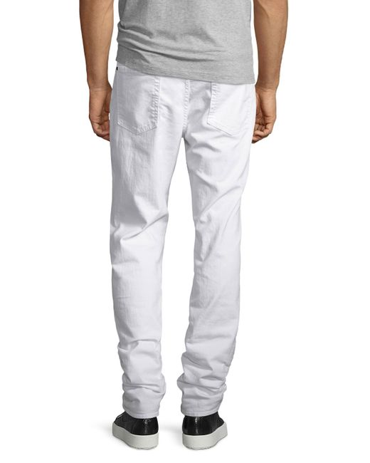 7 for all mankind Standard Clean White Jeans in White for Men | Lyst