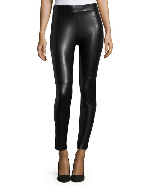 Wolford | Black Estella Faux-leather Leggings | Lyst