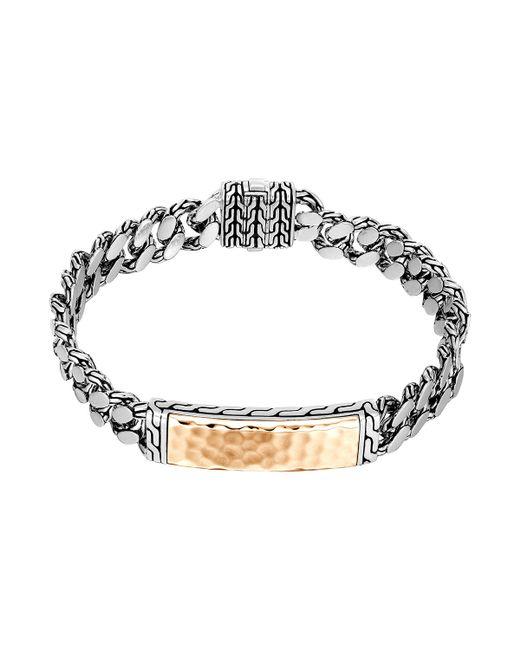 John Hardy | Metallic Gourmette Classic Chain Id Bronze Bracelet for Men | Lyst