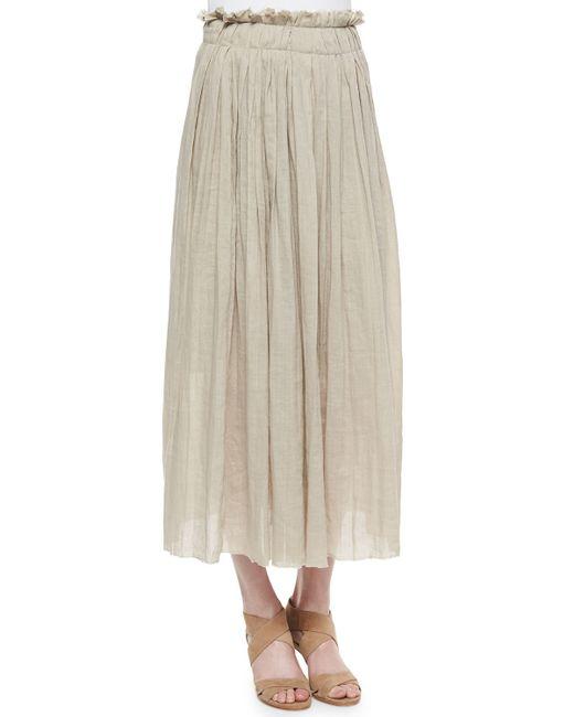 Elie Tahari | White Luna Pleated Maxi Skirt | Lyst