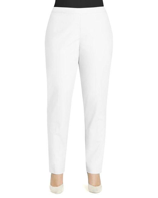 Lafayette 148 New York | White Crepe Slim Ankle Pants | Lyst
