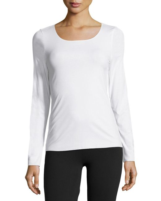 Wolford | White Pure Long-sleeve Pullover Top | Lyst