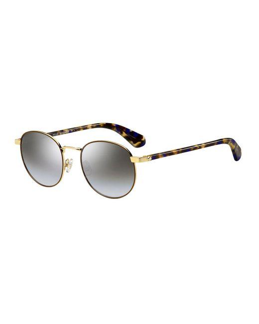 Kate Spade - Brown Adelais Round Sunglasses - Lyst