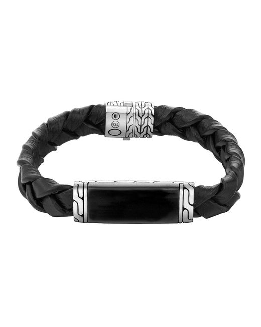 John Hardy | Black Batu Classic Chain Men's Silver Station Bracelet for Men | Lyst
