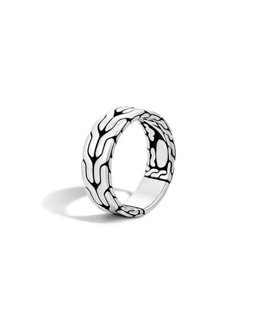 John Hardy | Metallic Men's Silver Woven Chain Ring for Men | Lyst