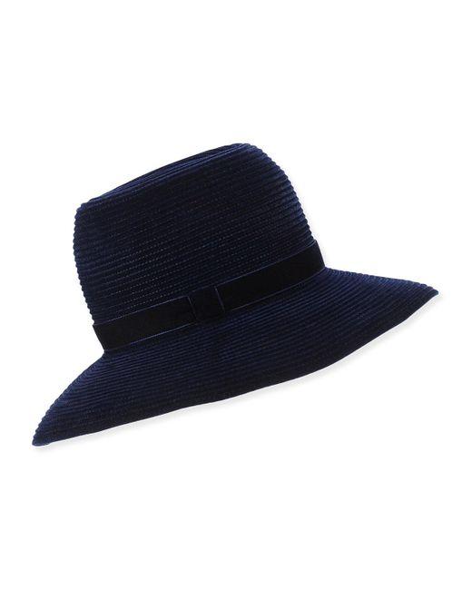 Gigi Burris Millinery | Black Constance Ribbed Velvet Hat | Lyst