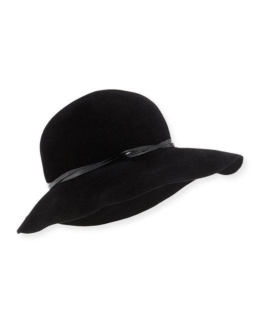 Eric Javits | Black Moxi Rabbit Felt Hat | Lyst