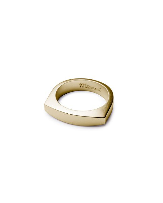 Miansai   Metallic Men's Brushed Golden Flat-top Ring for Men   Lyst