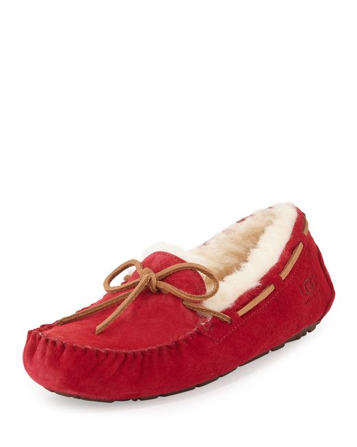 Ugg | Red Dakota Classic Suede Tie Slipper | Lyst