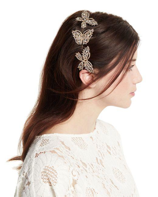 Jennifer Behr | Metallic Triple Mariposa Hair Comb | Lyst