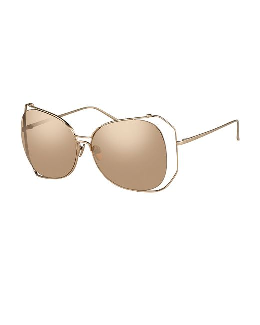 Linda Farrow | Pink Angled-rim Butterfly Sunglasses | Lyst