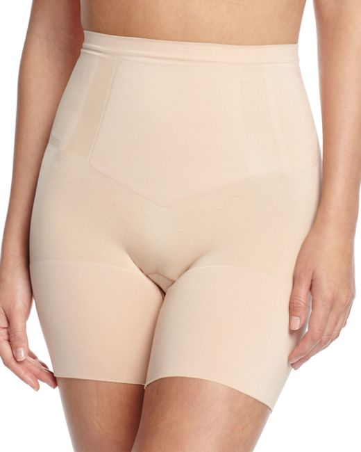 Spanx | Natural Oncore Mid-thigh Shaper | Lyst