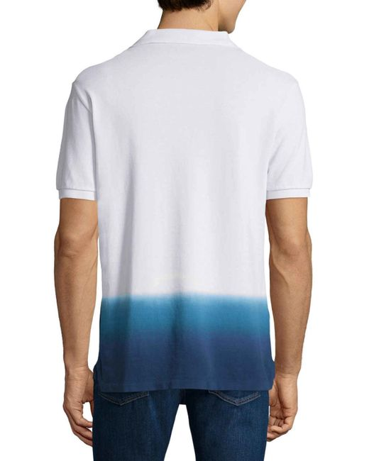 3b4ea8ed0 Burberry brit Dip-dyed Short-sleeve Polo Shirt in White for Men - Save