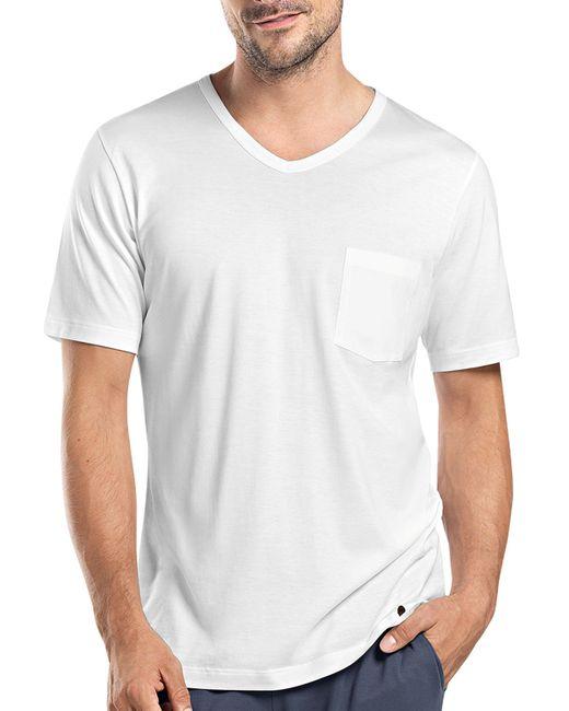 Hanro | White Night & Day Short-sleeve Tee W/pocket for Men | Lyst