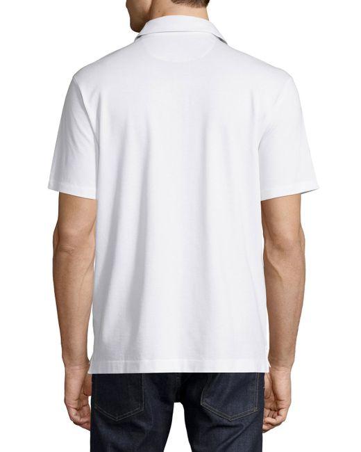 Ermenegildo zegna short sleeve knit pique polo shirt in for Zegna polo shirts sale