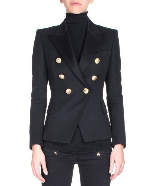 Balmain | Black Classic Double-breasted Blazer | Lyst