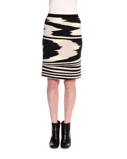 missoni printed pencil above knee skirt in black lyst